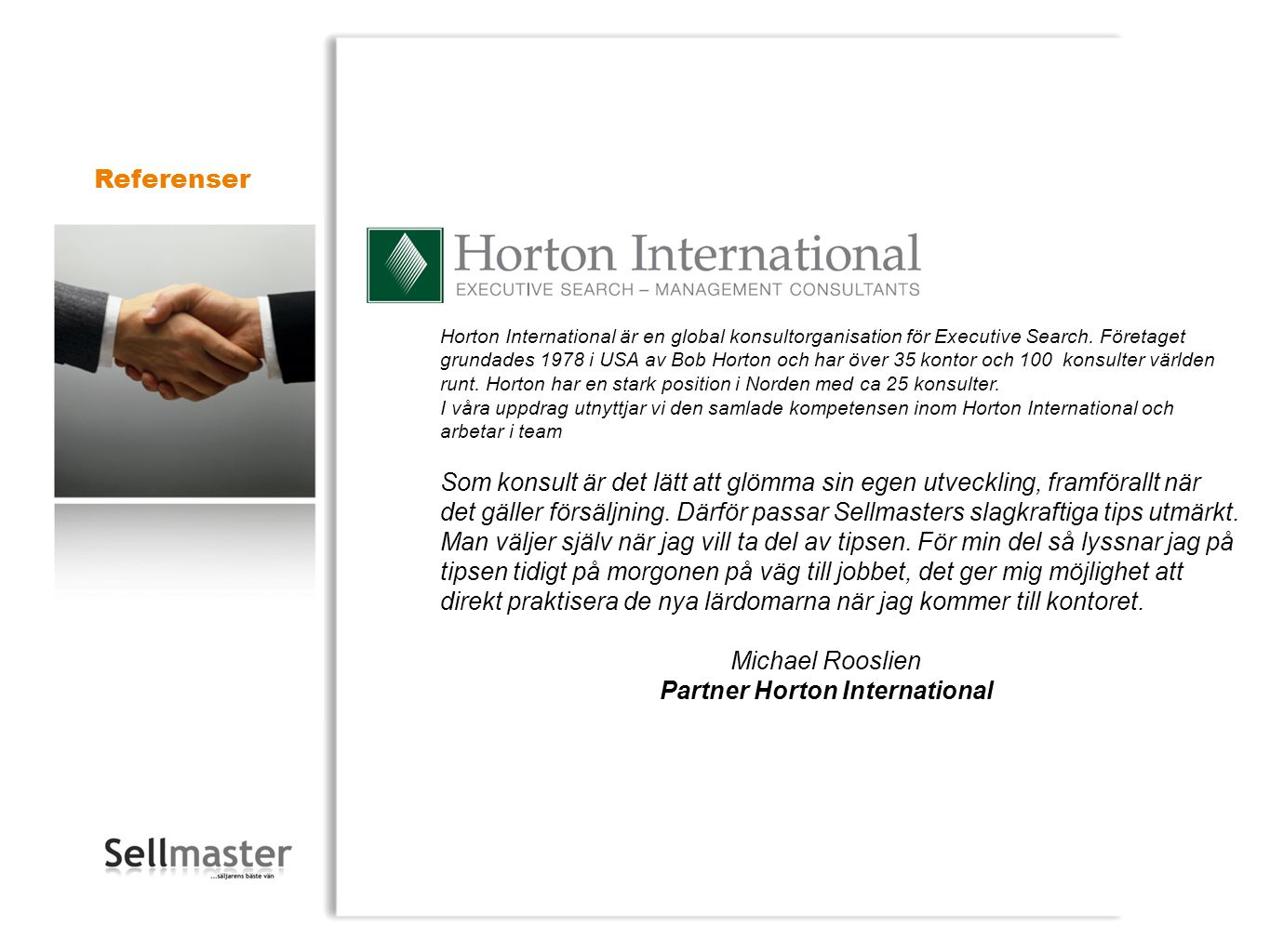 Partner Horton International