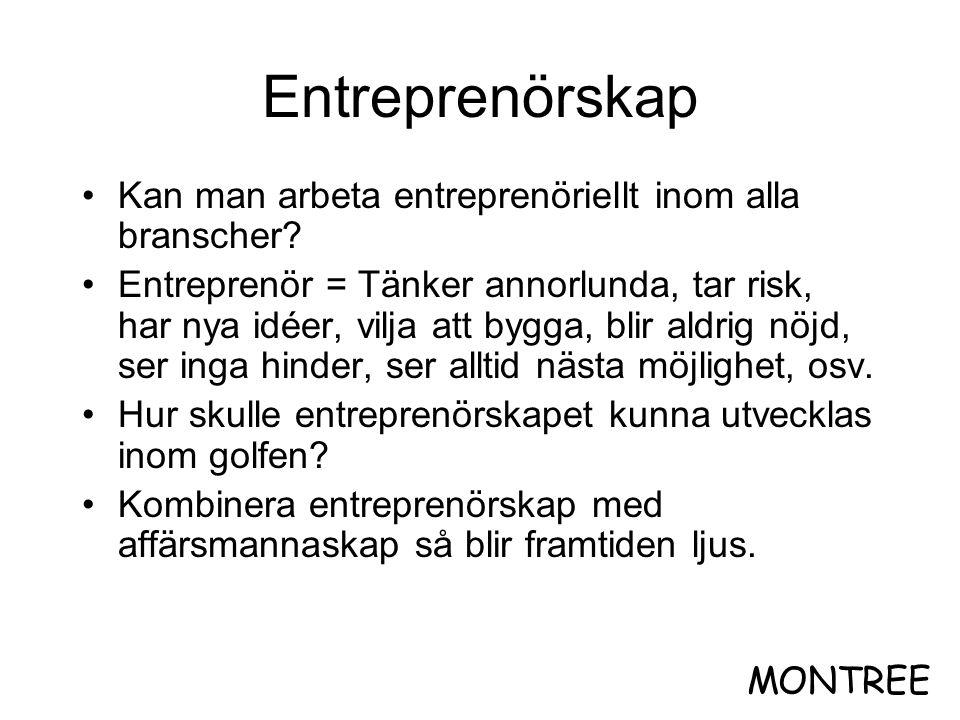 Entreprenörskap Kan man arbeta entreprenöriellt inom alla branscher