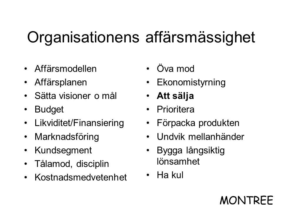 Organisationens affärsmässighet