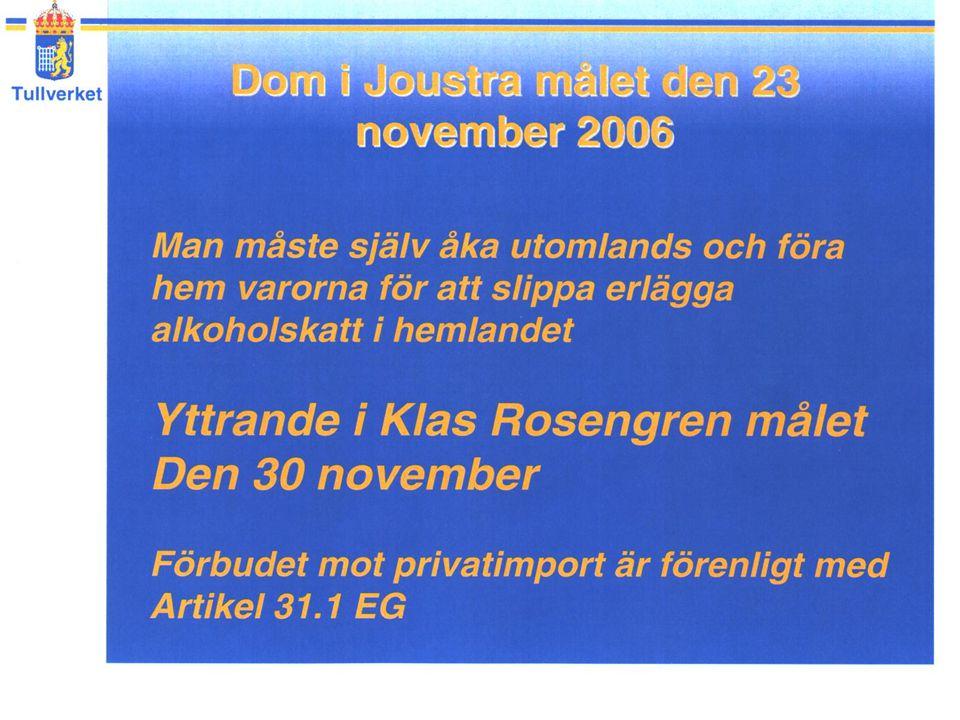 Oustra domen Klas Rosengren + tullens beslag fick aktörerna att dra sig ur