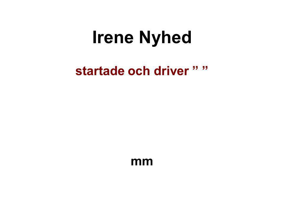 Irene Nyhed startade och driver mm