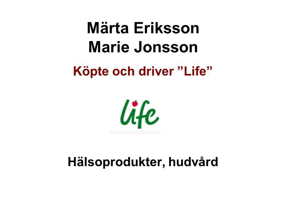 Märta Eriksson Marie Jonsson