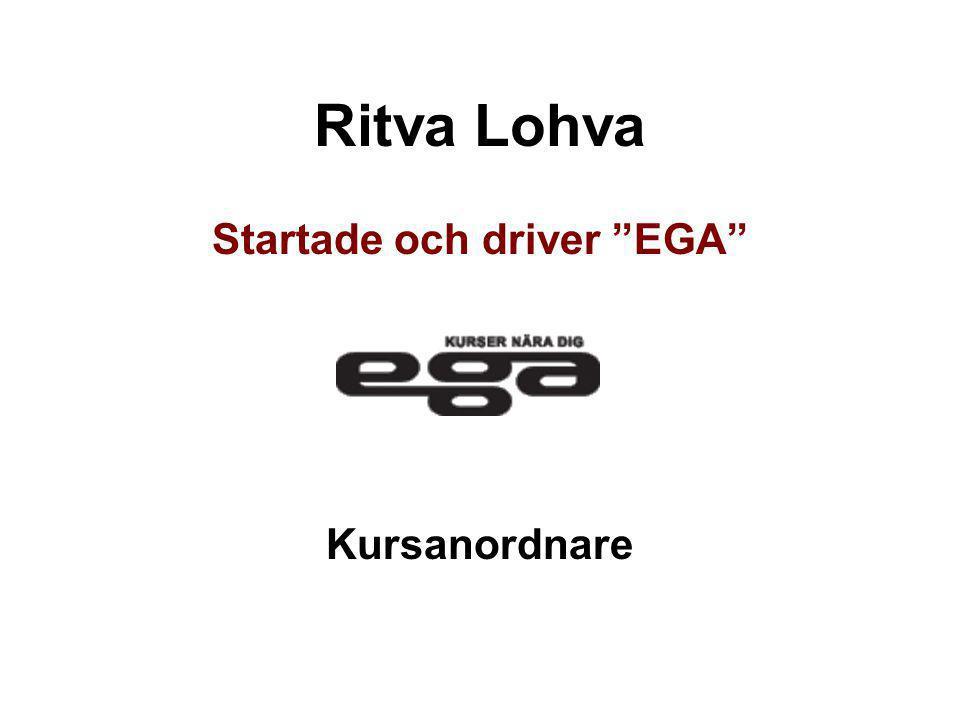 Startade och driver EGA