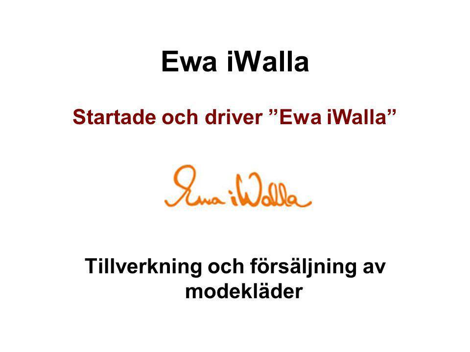 Ewa iWalla Startade och driver Ewa iWalla