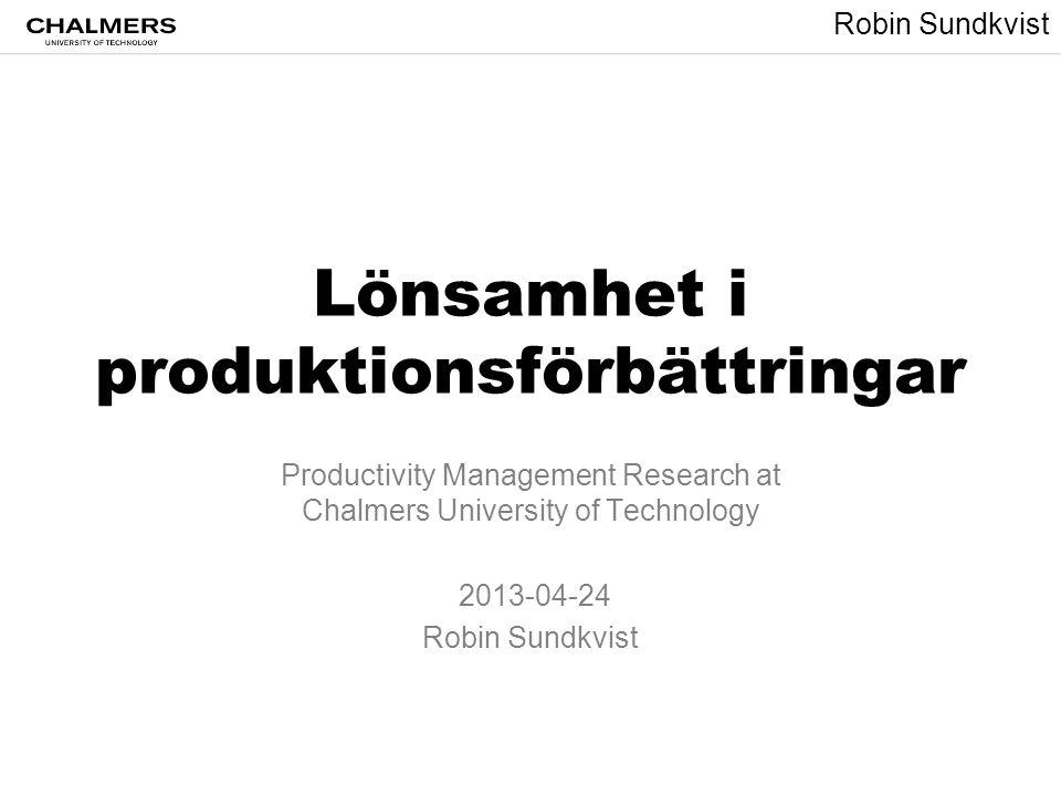 Lönsamhet i produktionsförbättringar
