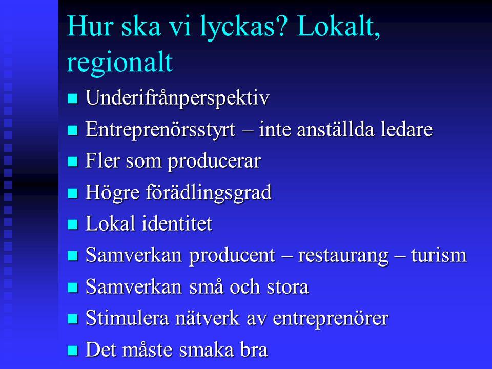 Hur ska vi lyckas Lokalt, regionalt