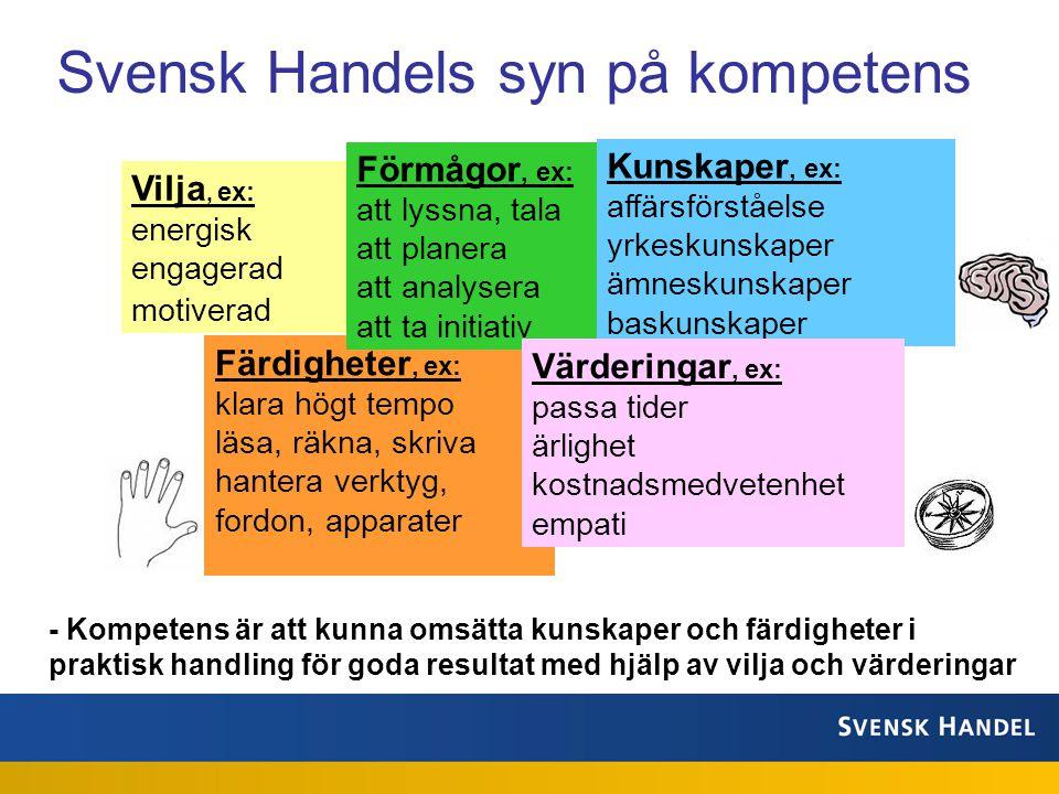 Svensk Handels syn på kompetens