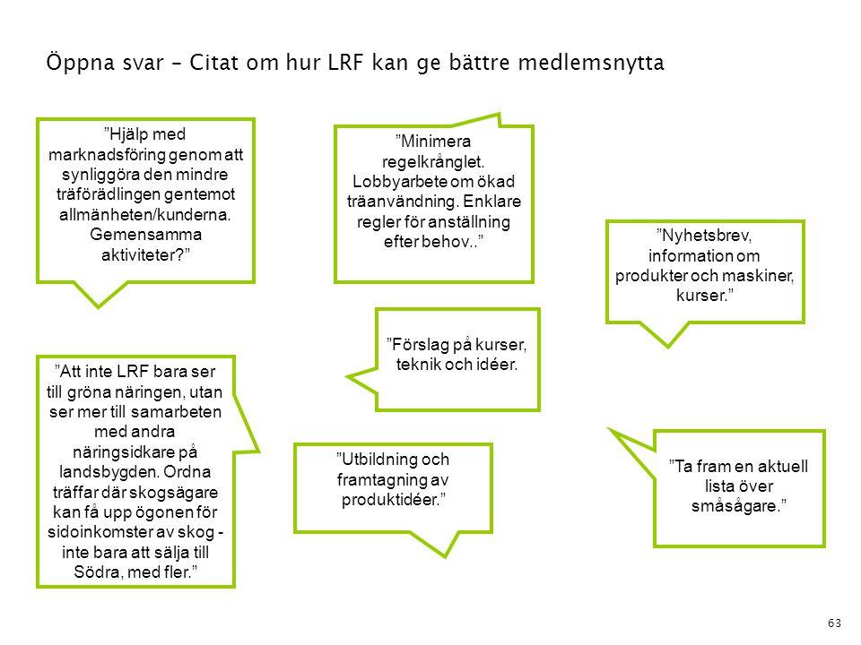 Öppna svar – Citat om hur LRF kan ge bättre medlemsnytta
