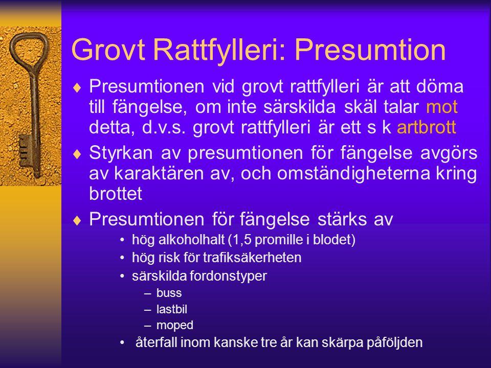 Grovt Rattfylleri: Presumtion