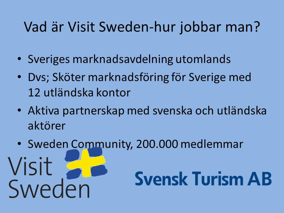 Vad är Visit Sweden-hur jobbar man