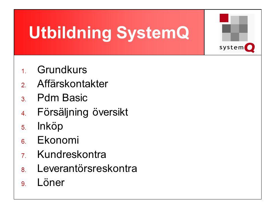 Utbildning SystemQ Grundkurs Affärskontakter Pdm Basic