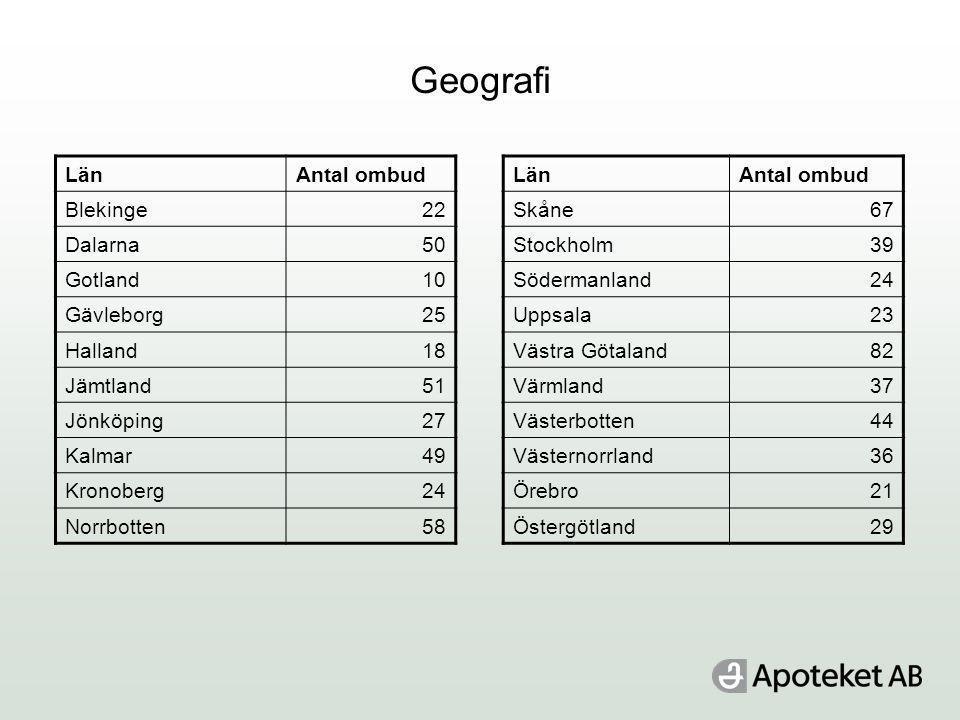 Geografi Län Antal ombud Blekinge 22 Dalarna 50 Gotland 10 Gävleborg