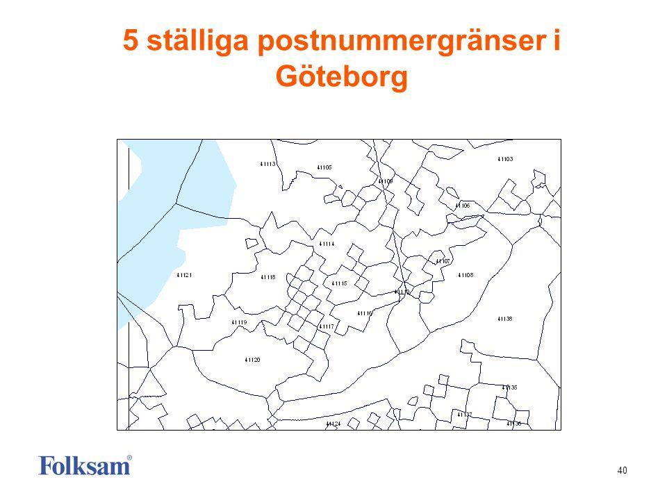 5 ställiga postnummergränser i Göteborg