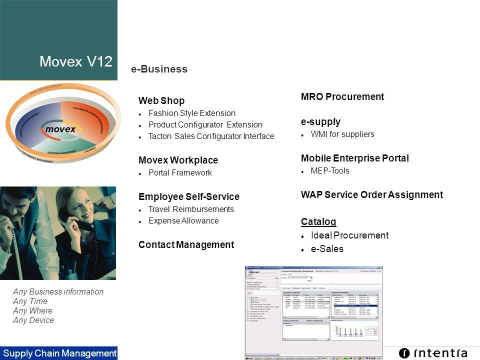 Movex V12 e-Business MRO Procurement e-supply Mobile Enterprise Portal