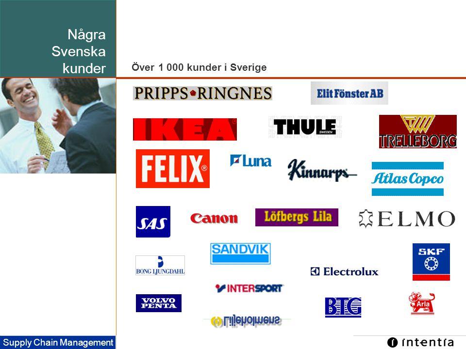 Några Svenska kunder Över 1 000 kunder i Sverige