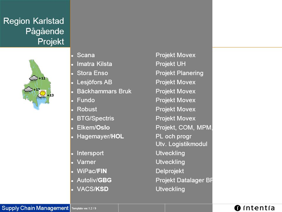 Region Karlstad Pågående Projekt