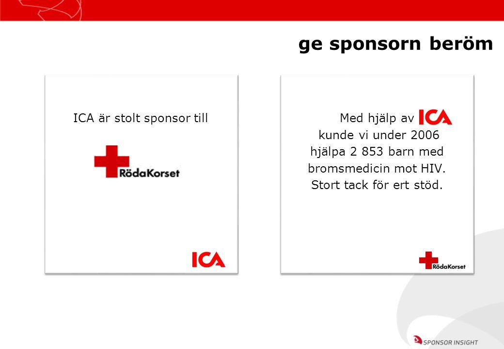 ICA är stolt sponsor till
