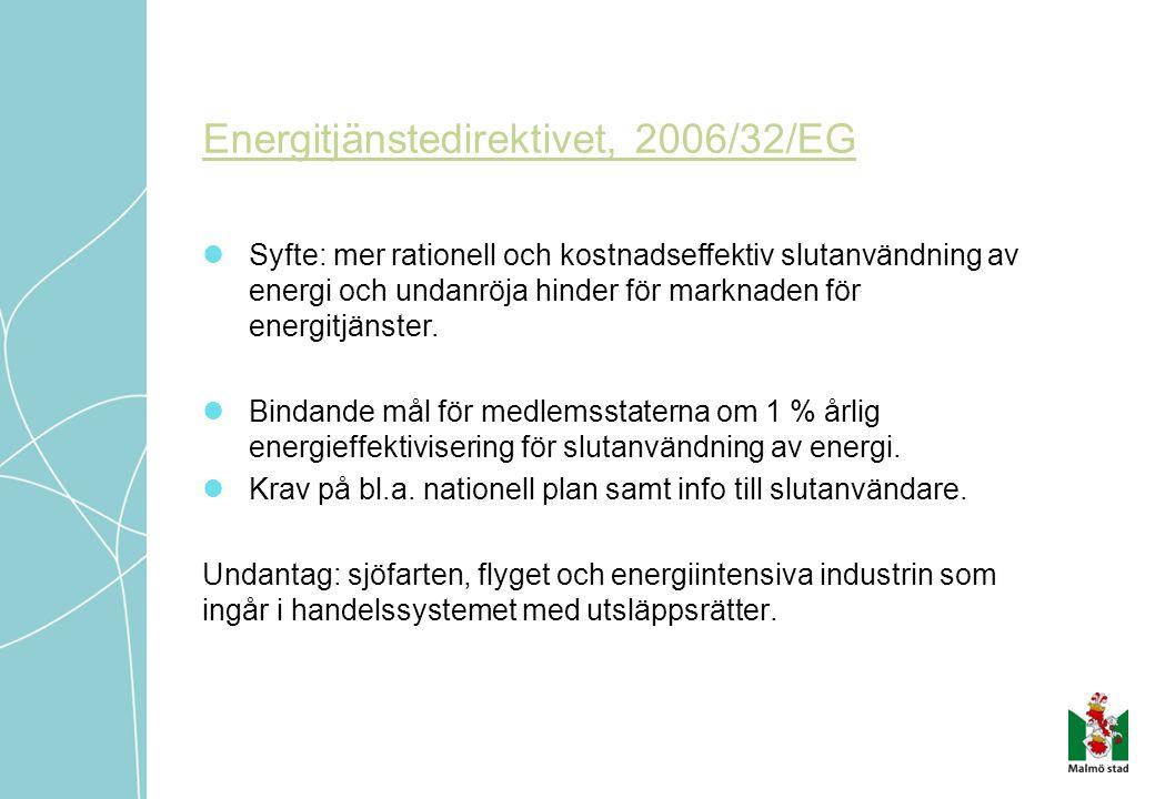 Energitjänstedirektivet, 2006/32/EG