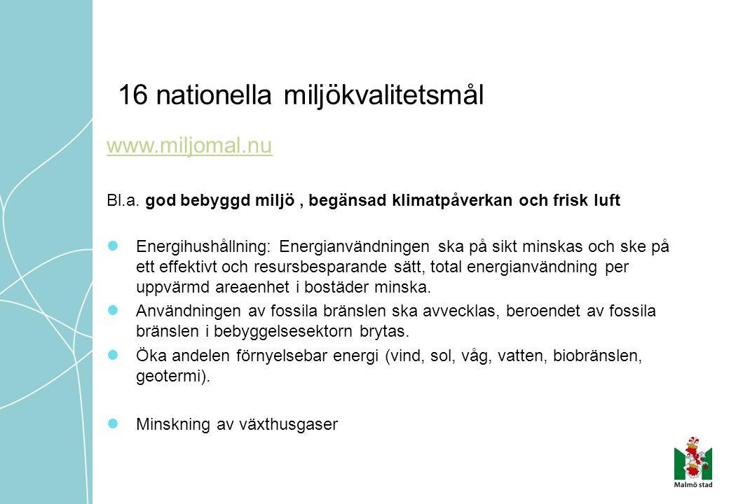 16 nationella miljökvalitetsmål
