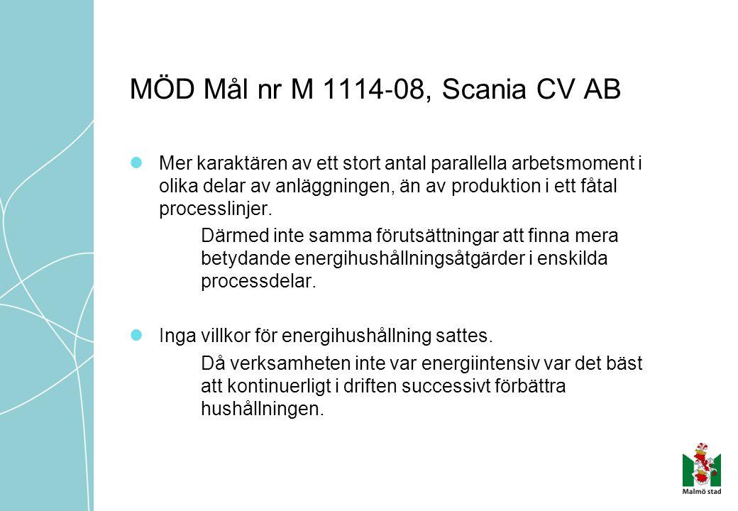MÖD Mål nr M 1114‐08, Scania CV AB