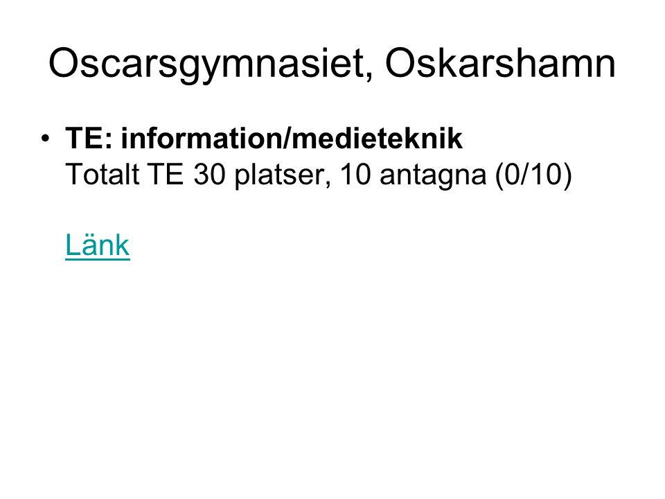 Oscarsgymnasiet, Oskarshamn