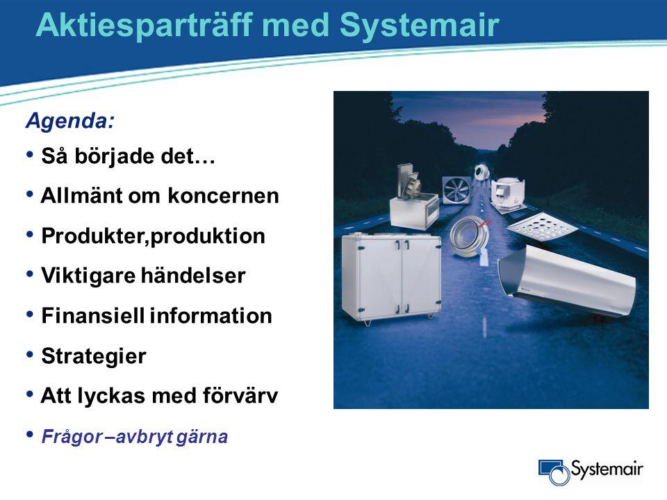 Aktiesparträff med Systemair
