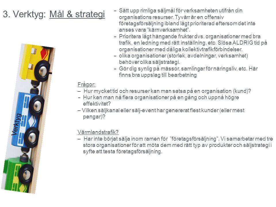 3. Verktyg: Mål & strategi