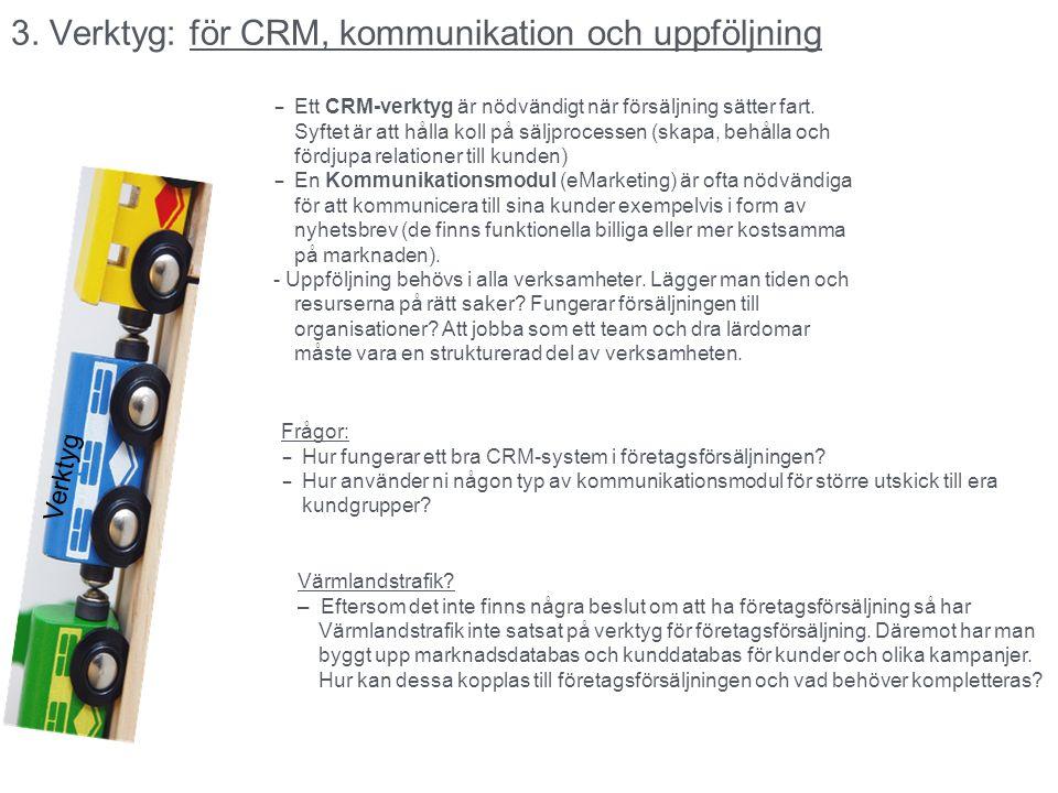 3. Verktyg: för CRM, kommunikation och uppföljning