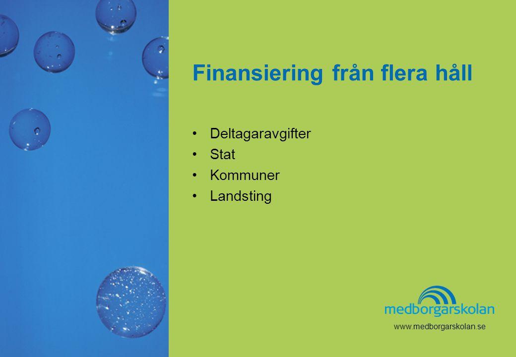 Finansiering från flera håll