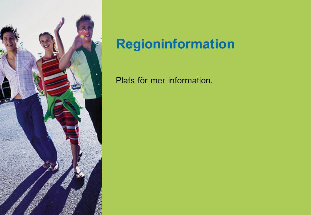 Regioninformation Plats för mer information.