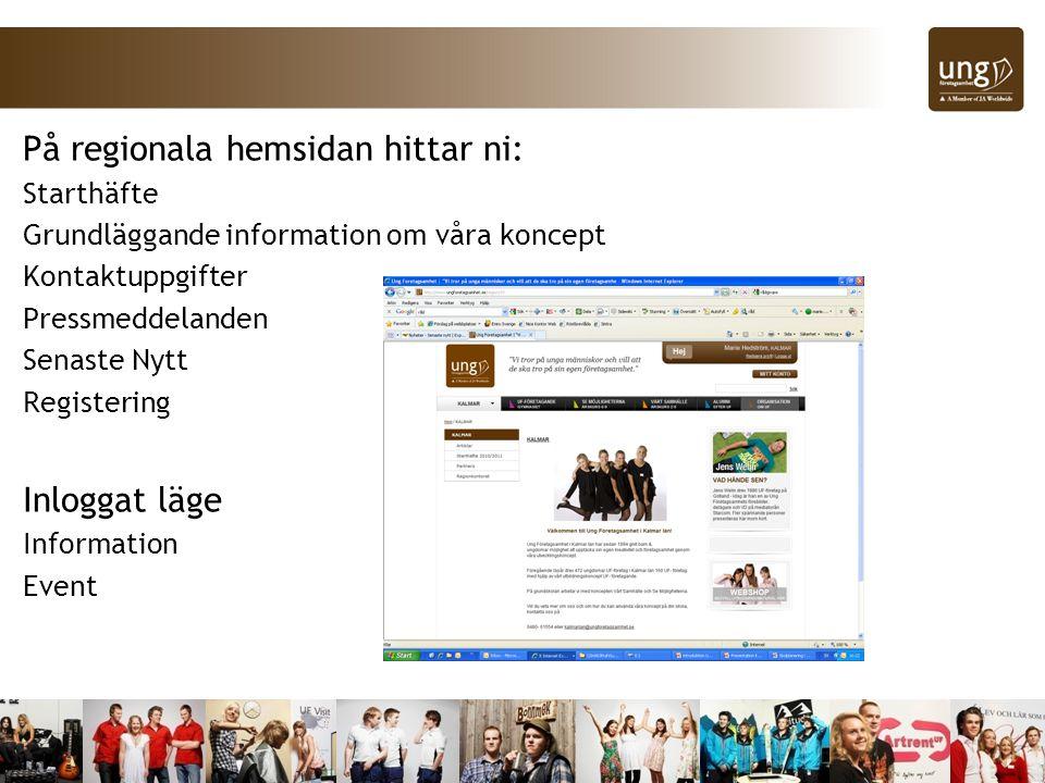 På regionala hemsidan hittar ni:
