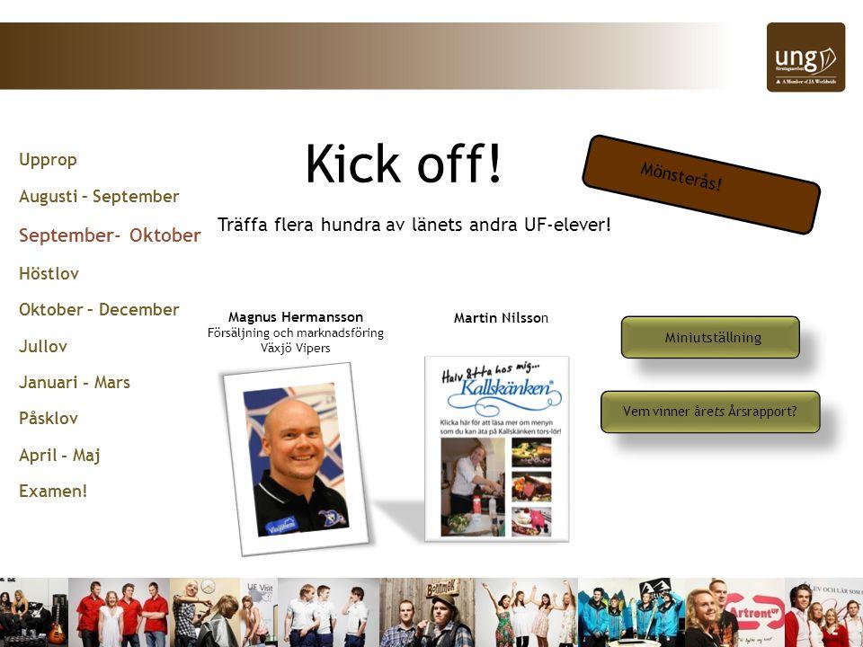 Kick off! September- Oktober