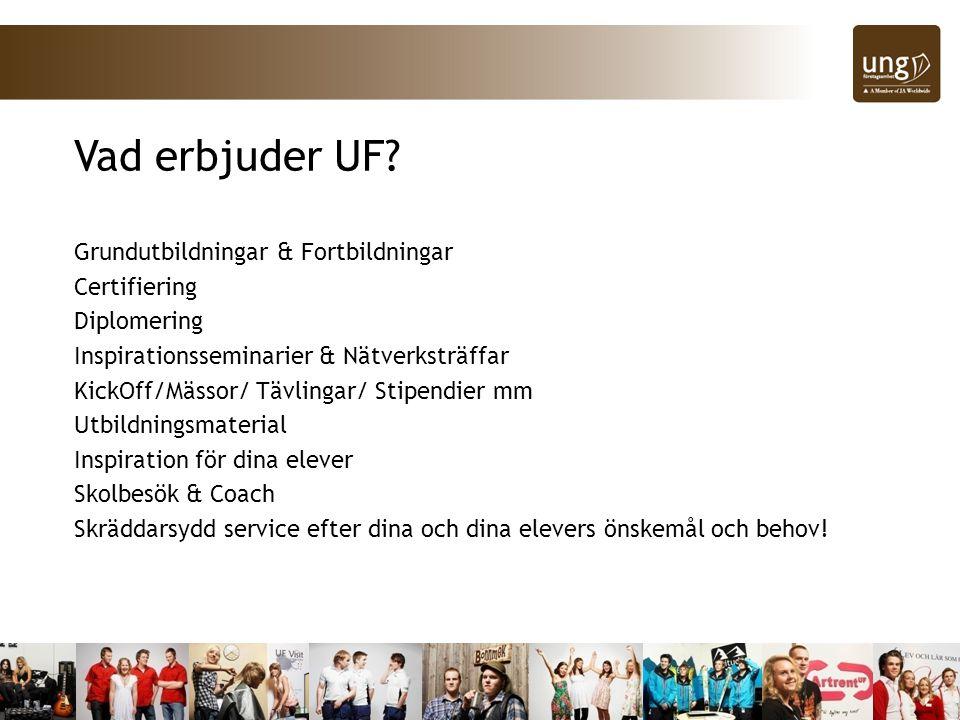 Vad erbjuder UF Grundutbildningar & Fortbildningar Certifiering