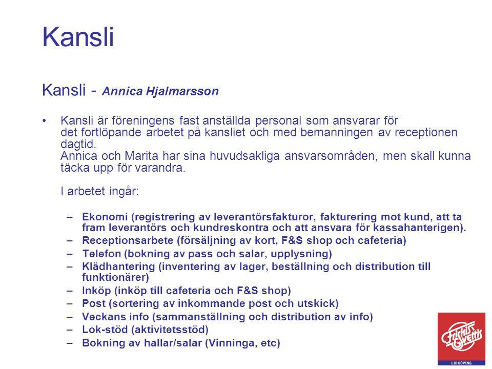 Kansli Kansli - Annica Hjalmarsson
