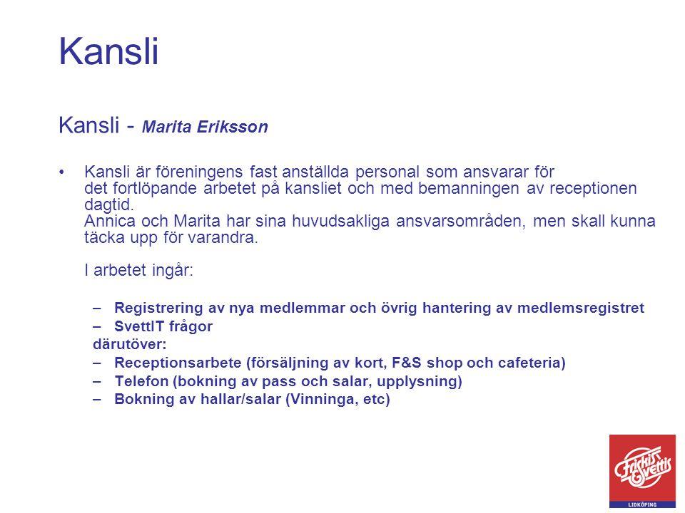 Kansli Kansli - Marita Eriksson
