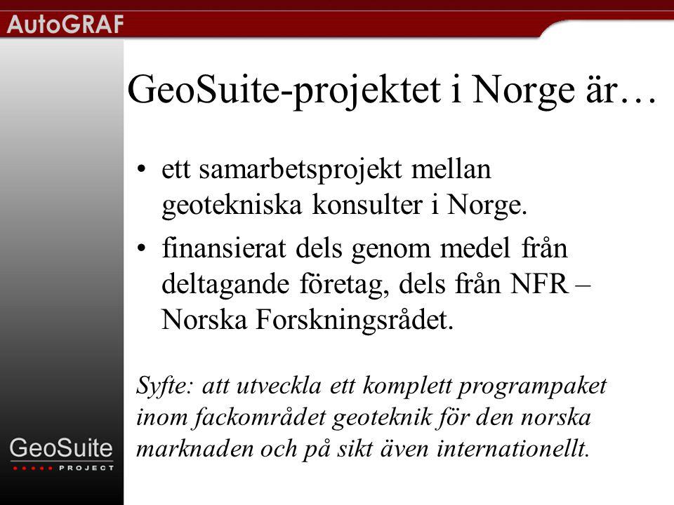 GeoSuite-projektet i Norge är…