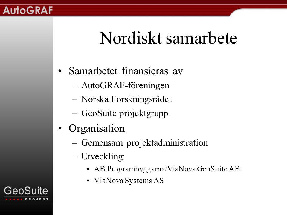 Nordiskt samarbete Samarbetet finansieras av Organisation