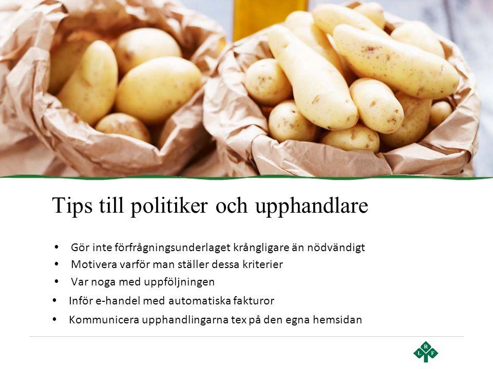 Tips till politiker och upphandlare