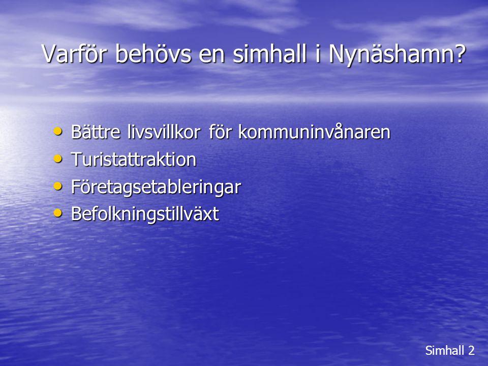 Varför behövs en simhall i Nynäshamn