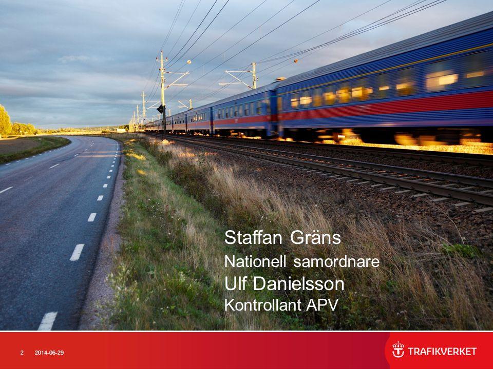 Staffan Gräns Nationell samordnare Ulf Danielsson Kontrollant APV