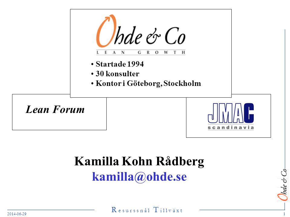 Kamilla Kohn Rådberg kamilla@ohde.se
