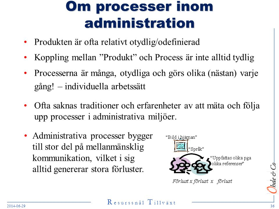 Om processer inom administration