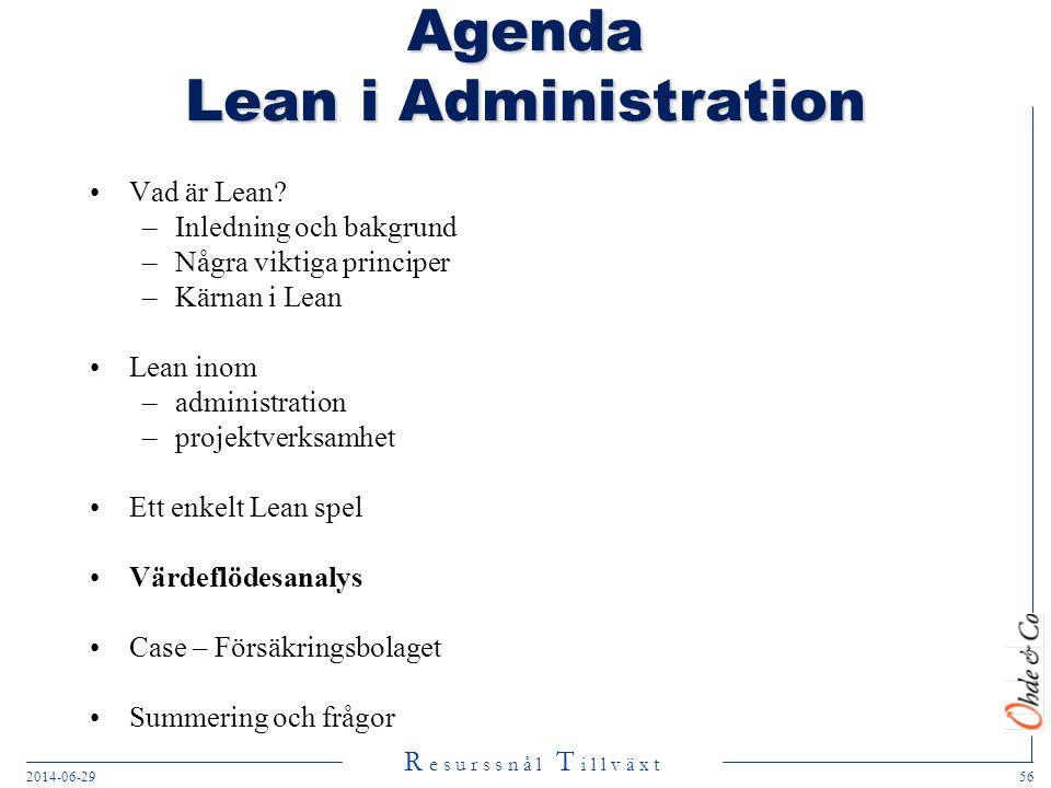 Agenda Lean i Administration