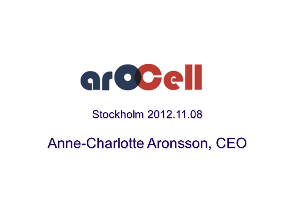 Anne-Charlotte Aronsson, CEO