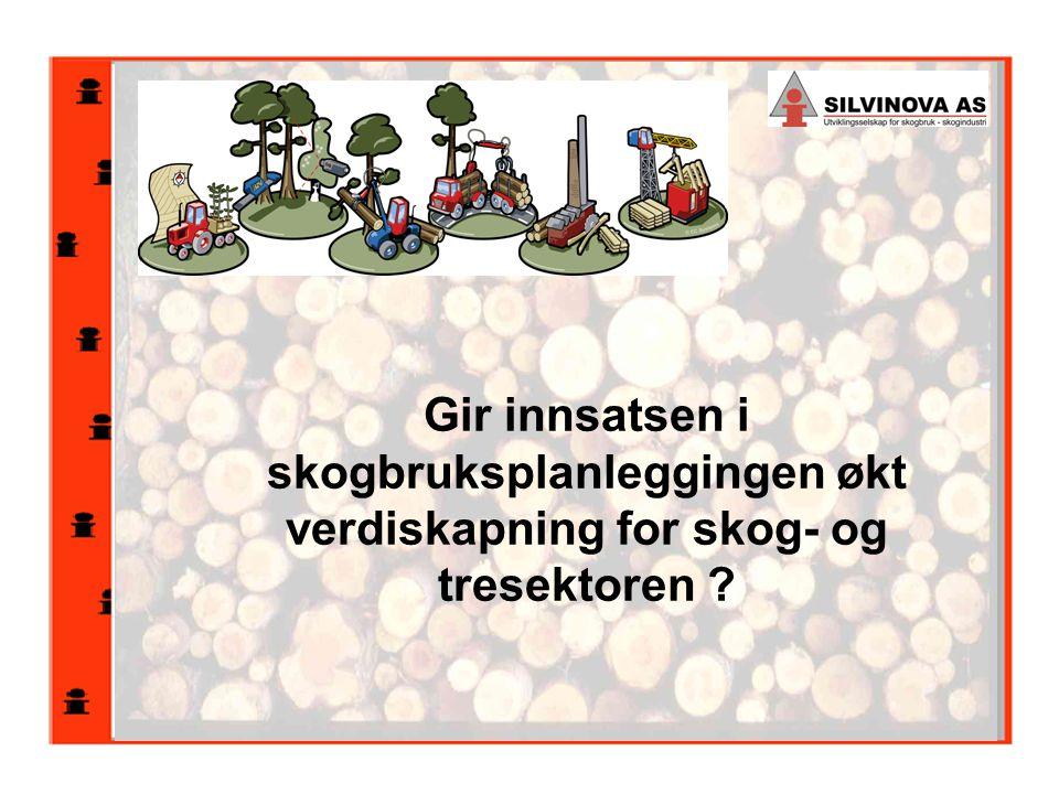 Gir innsatsen i skogbruksplanleggingen økt verdiskapning for skog- og tresektoren