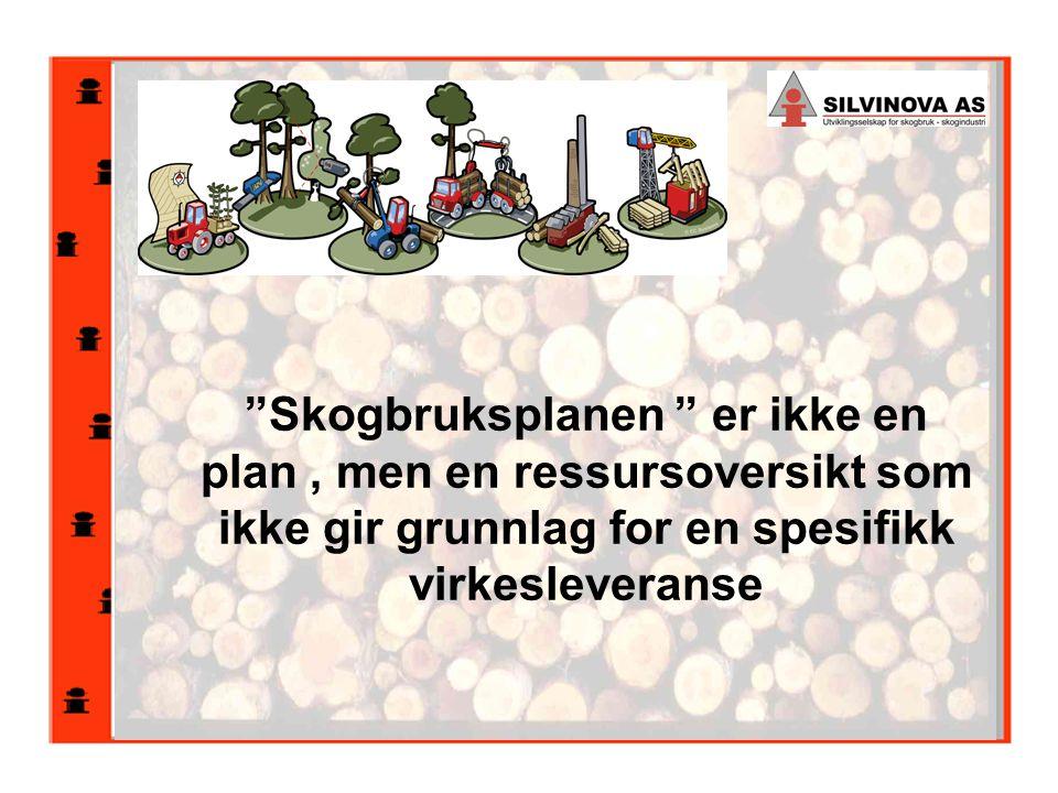 Skogbruksplanen er ikke en