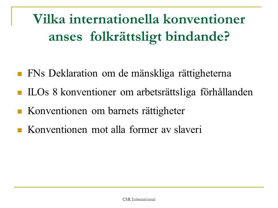 Vilka internationella konventioner anses folkrättsligt bindande