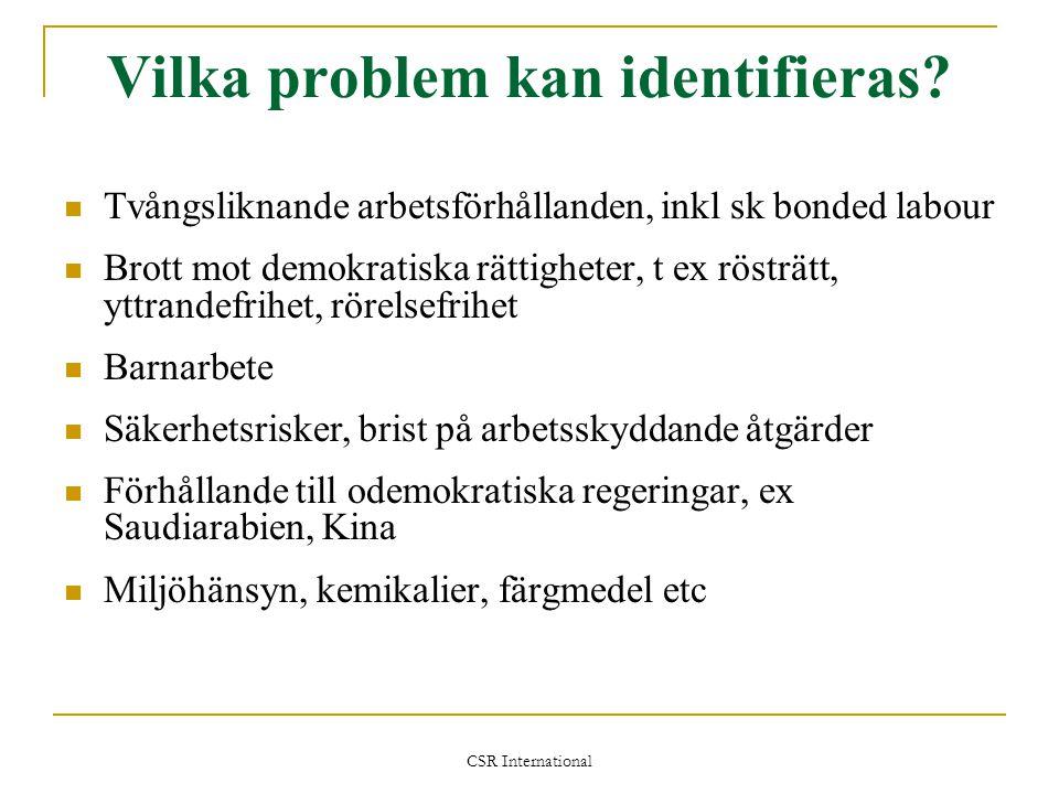 Vilka problem kan identifieras