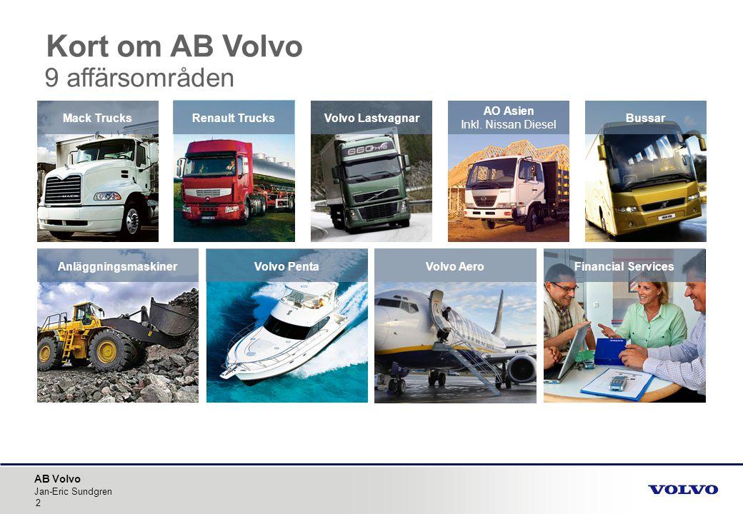 Kort om AB Volvo 9 affärsområden
