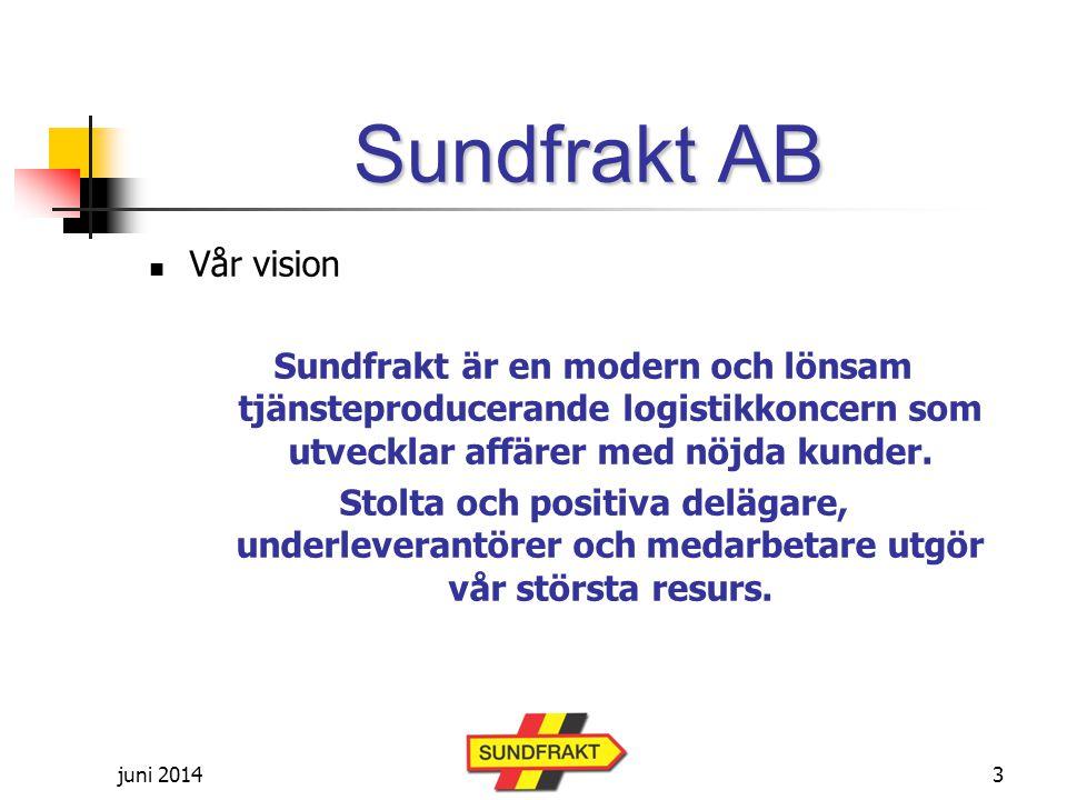Sundfrakt AB Vår vision